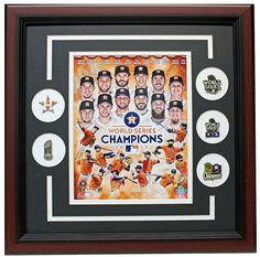 Houston Astros 2017 World Series Champions Framed Photo Pin Set