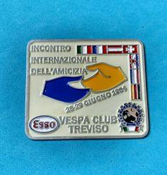 Badge Placca Plakette Vespa Club Treviso Esso