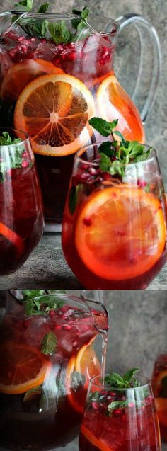 This Pomegranate Party Punch from Cravings of a Lunatic is both delicious and versatile. The flavors will make you think of the holidays and you can make it spiked or unspiked