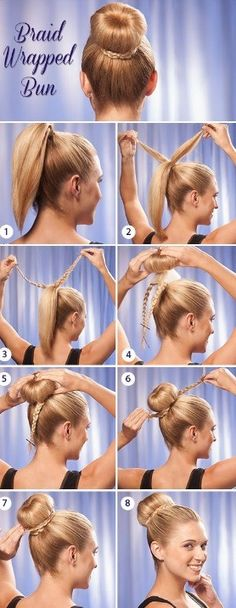 Braid Wrapped Bun #Beauty #Trusper #Tip