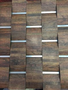 3D domed edge grain Mesquite with aluminum by Woodwright