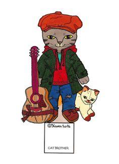 Karen`s Paper Dolls: cat brother