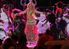 Shakira in Shakira sings Waka Waka During the World Cup Closing Ceremonies
