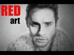 Портрет Джаред Лето Сухая кисть. Speed Drawing Portrait Jared Leto - YouTube