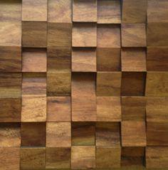 Pl49 001 oak ch ne panneau mural en mosa ques de bois - Panneau d habillage mural ...