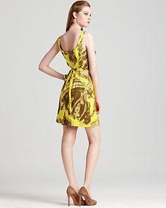 Milly Foglia Print Jillian Tank Dress