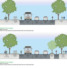 Bike lane & ped safety Proposal for Second Street in San Francisco. Click image for details and variants, and visit the Slow Ottawa 'Streets for Everyone' board for more great design ideas.