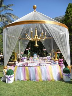 How adorable is this canopy for a #princess #party?! #EventSpark