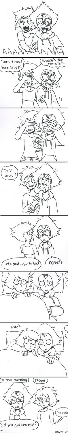 (Lapidot) Horror movies by HikumiRin on DeviantArt Steven Universe Lapidot, Steven Universe Memes, Universe Love, Universe Art, Lapis And Peridot, Cartoon Ships, Peridots, Force Of Evil, Horror Movies