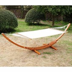 Place your hanging chair indoor or outdoor to invite tranquility into a hectic day or to add coziness to your backyard. Here are the wondrous hanging chairs on Getting Yourself In The Swing Of Spring With Wondrous Hanging Chairs. Wooden Hammock Stand, Rope Hammock, Hammock Swing Chair, Outdoor Hammock, Double Hammock, Swinging Chair, Camping Hammock, Outdoor Lounge, Garden Furniture