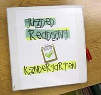 best guided reading/running record organization I have EVER seen!