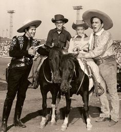 Tricking Riders Butch Danny Dent Pose With TV Celebrities Duncan Renaldo Who Portrays The Cisco Kid And Leo Carillo Plays Poncho