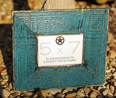 Rustic Picture Frame Turquoise 5x7 Distressed by 3LPhotography, $28.00