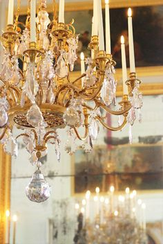 A chandelier at Versailles.