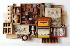Assemblage+Art+Ideas | Craft Ideas / Leo Kaplan : Assemblage & Box Art