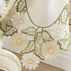 "Spring  Flowers  Embroidery Cutwork  Square Tablecloths 85X85CM SQ(33X33"")"