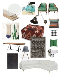 """Basement family room"" by blessed-cre8ivity on Polyvore featuring interior, interiors, interior design, home, home decor, interior decorating, CC, Rove Concepts, Domitalia and WALL"
