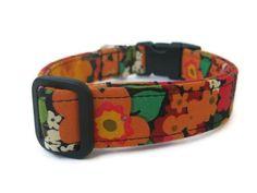 Autumn Floral Dog Collar  Custom Fall Dog Collar by BigpawCollars, $20.00