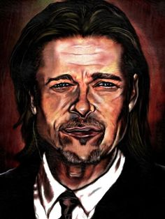 Fantastic depiction of Brad Pitt.