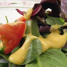 Honey & Mustard Salad Dressing Recipe on Yummly. Honey Mustard Recipes, Homemade Honey Mustard, Honey Mustard Salad Dressing, Great Recipes, Favorite Recipes, Good Food, Yummy Food, Tasty, Soup And Salad