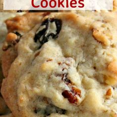 Pecan Raisin Cookies. Delicious easy cookies perfect with a glass of milk or cup of tea! Also great for gifts! | Lovefoodies.com