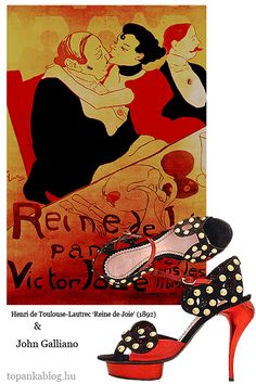 Painting by Henri de Toulouse-Lautrec, shoes by John Galliano