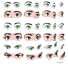 "Miyuliさんのツイート: ""Since someone asked how I go about drawing eyes in perspective here's a little personal guide.… """