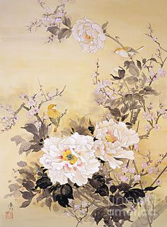 Spring Blossom II Giclee Print by Haruyo Morita at AllPoster. Japanese Painting, Chinese Painting, Chinese Art, Chinoiserie, Kunst Poster, Spring Blossom, Japan Art, Japanese Artists, Photo Wallpaper