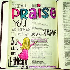 #IllustratedFaith #BibleJournaling #HandLettering #Jesus #Praise