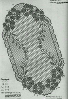 Kira scheme crochet: Scheme crochet no. Crochet Dollies, C2c Crochet, Crochet Chart, Crochet Lace, Crochet Stitches, Doily Patterns, Knitting Patterns, Crochet Patterns, Crochet Table Runner