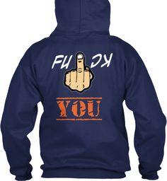 K C Fu You Navy Sweatshirt Back