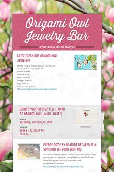 Origami Owl Jewelry Bar