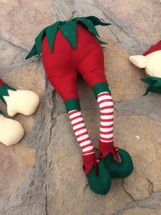 Elf butt with Legs for Christmas tree- decorations -whimsical-elf legs picks-elves,RAZ Christmas Christmas Present Boxes, Christmas Decorations For The Home, Christmas Tree Toppers, Diy Christmas Gifts, Christmas Stockings, Christmas Sweaters, Christmas Elf Doll, Classy Christmas, Etsy Christmas