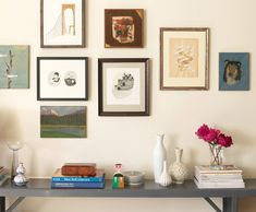 pretty mix of wall-art and color