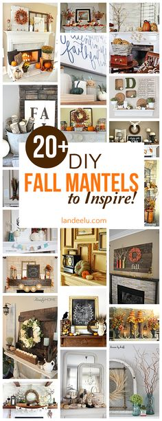 Over 20 beautiful DIY fall mantel decorating ideas - Gorgeous Autumn Do it Yourself Home Decor Inspiration