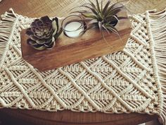 (@bohofarmchic) в Instagram: «Another fabulous find from @homegoods Love these cotton macrame placemats #macrame #bohochic…»