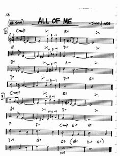Jazz Standard Realbook chart ALL OF ME