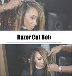How To Do A Razor Cut Bob [Video] - http://community.blackhairinformation.com/video-gallery/weaves-and-wigs-videos/razor-cut-bob-video/
