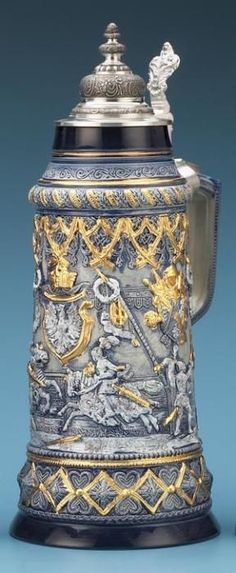 2.5L JOUSTING STEIN - Authentic Beer Steins from Germany - http://1001BeerSteins.com