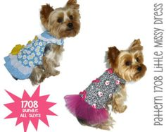 Abbi Lyn Dog Dress Pattern 1712  Bundle 3 Sizes  by SofiandFriends