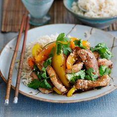 Our triple-tested quick turkey and pork stir-fry will be on the table in fifteen minutes. Asian Recipes, Real Food Recipes, Great Recipes, Healthy Recipes, Delicious Recipes, Recipe Ideas, Yummy Food, Turkey Stir Fry, Pork Stir Fry