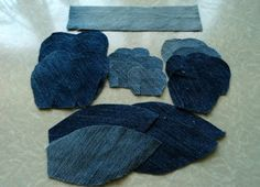 reuse and recycle for clothes - crafts ideas - crafts for kids Denim Flowers, Felt Flowers, Fabric Flowers, Burlap Fabric, Felt Fabric, Denim Ideas, Denim Crafts, Patchwork Jeans, Old Jeans