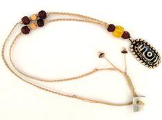 Dzi bead necklace-Tibetan dzi bead-Agate by PlanetEarthHandmade