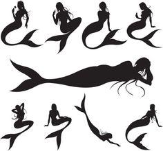 Vectores libres de derechos: Mermaids