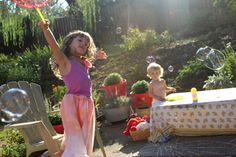 bubble dancing!