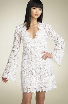 """Diane Von Furstenberg's 2009 """"Hippolyte"""" crochet lace dress."""