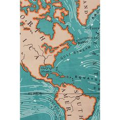 4040 Locust Ocean Current Tapestry ($49) ❤ liked on Polyvore featuring home, home decor, wall art, colorful home decor, map wall art, beach home accessories, beach home decor and beach wall art
