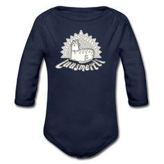 Tonony.com | Schwiizer Shirt | Luusmeitli | Comic Katzen Shirt - Baby Bio-Langarm-Body | Das Luusmeitli Shirt, mit einer niedlichen, schnurrende und miauende Katze und dem Text Luusmeitli. Das passende T-Shirt für alle, Schweizer-Katzen-Mamis, die alles für ihre Lieblinge machen.