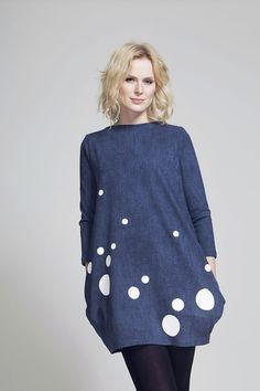 FNDLK úpletové šaty 62 BVqL_blue-POSLEDNÍ KUS (S) Fashion Labels, Blues, Tunic Tops, My Style, Casual, Jackets, Dresses, Women, Down Jackets