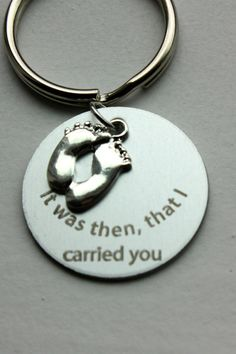 It was then that I carried you keyring.  by Lexiandfriends on Etsy